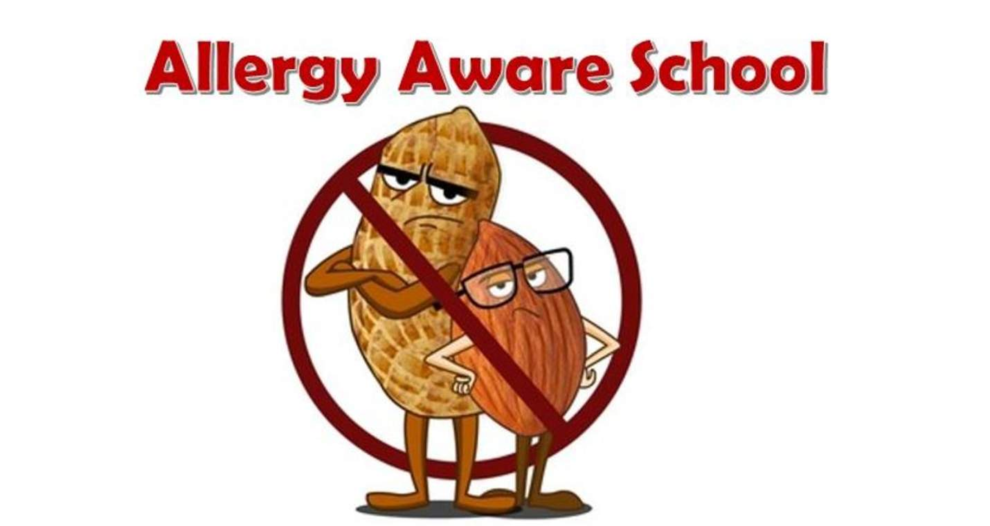 "We are a ""nut-aware"" school - no nuts please."