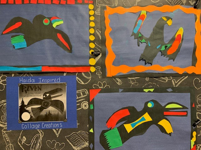 Haida Inspired Collage Creations